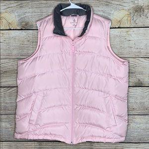 Lands End Women's Pink Puffy Vest 16/18